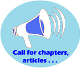megaphone with writing: Call For Chapters
