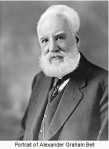 Portrait of Alexander Graham Bell, as white-haired, white-bearded man.