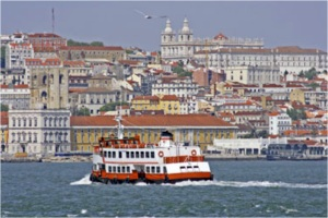 Lisbon seen from the sea.