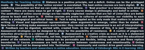 Edinburgh Online Learning Manifesto