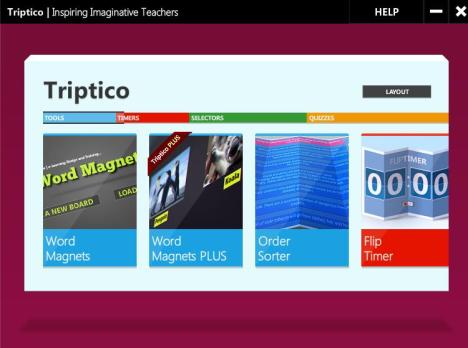 Figure 1 - Triptico App Launch Screen