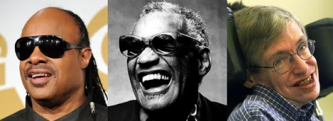 Stevie Wonder, Ray Charles, Stephen Hawking