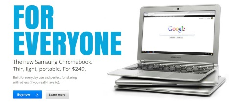 Samsung Chromebook retrieved from the Google chrome site, 7.11.13.