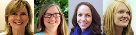Shari Smith (Rice University), Karen Vignare (UMUC), Tanya Joosten (University of Wisconsin - Milwaukee), and Amy Collier (Stanford University).