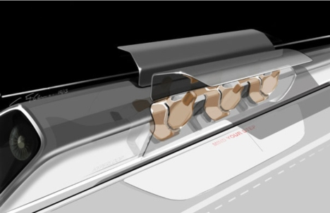 Hyperloop pod.