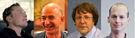 Elon Musk, Jeff Bezos, Alan Bond, Bas Lansdorp.