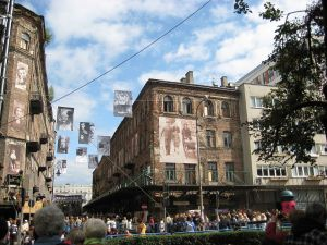 "Photo of the Warsaw Festival of Jewish Culture, ""Singer's Warsaw,"" by Radeksz, 9/2/09."