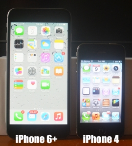 IPhone 6+ and iPhone 4.