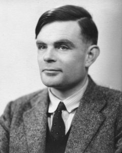 Alan Mathison Turing at the time of his election to a Fellowship of the Royal Society. Photograph was taken at the Elliott & Fry studio on 29 March 1951.