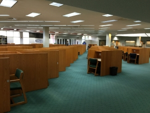 Second floor carrels.