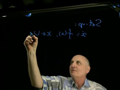 Chris Jones, Faculty Lead for Implementing Lightboard at UNC (Image Source Twitter)